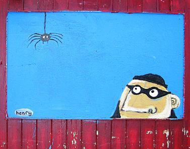 burglar street art